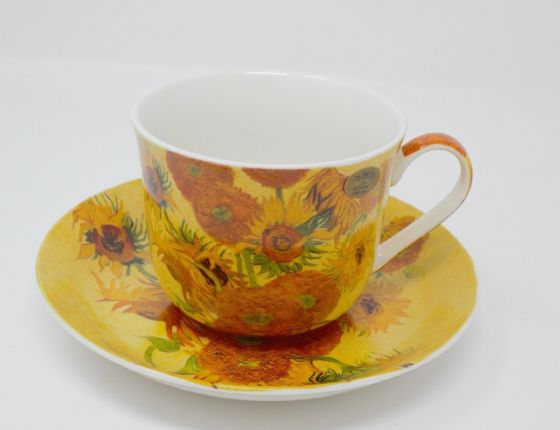 Leonardo Vincent Van Gogh Sunflowers Cup & Saucer Set Bone China New Gift Boxed